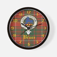 Bruce Clan Crest Wall Clock