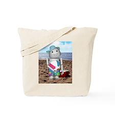 Cute Robot beach Tote Bag