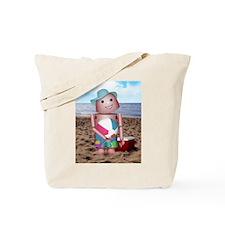 Robot beach Tote Bag