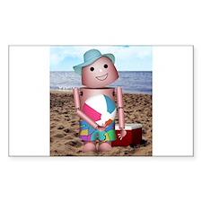 Robot beach Decal