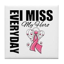 MissMyHero BreastCancer Tile Coaster