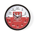 Polish Flag / Seal Wall Clock