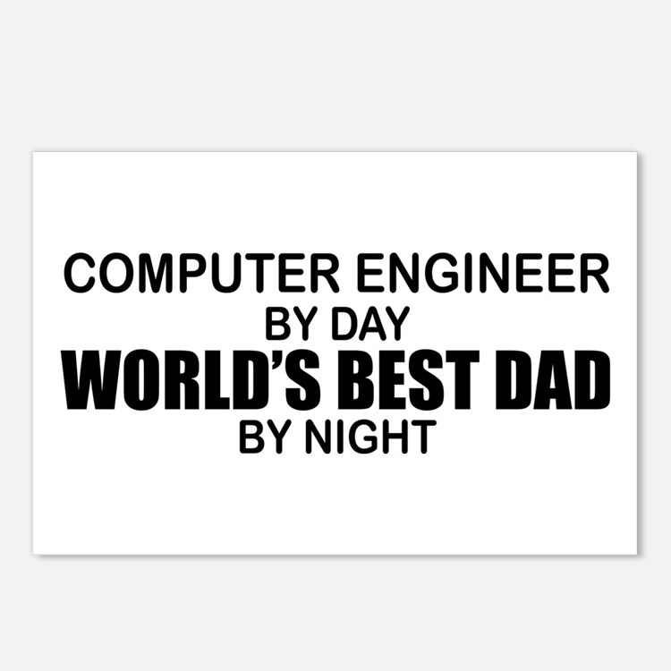 World's Best Dad - Comp Eng Postcards (Package of