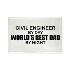 World's Best Dad - Civil Eng Rectangle Magnet