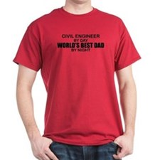 World's Best Dad - Civil Eng T-Shirt