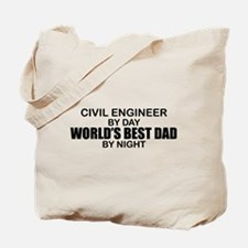 World's Best Dad - Civil Eng Tote Bag
