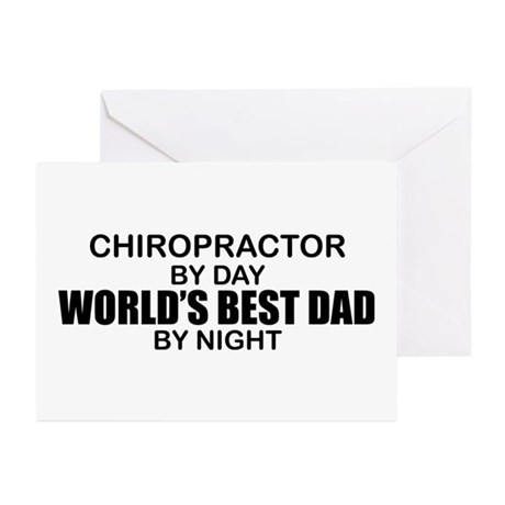 World's Best Dad - Chiropractor Greeting Cards (Pk