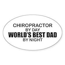 World's Best Dad - Chiropractor Decal