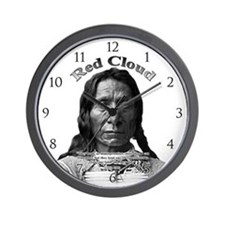 Red Cloud 01 Wall Clock