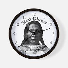 Red Cloud 01 Wall Clock