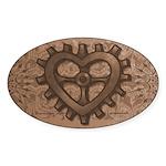 Gearheart Oval Sticker