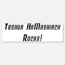 Yeshua Rocks - Black on White Bumper Bumper Bumper Sticker