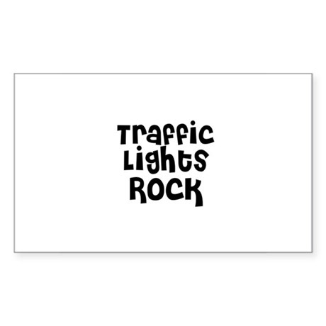 Traffic Lights Rock Rectangle Sticker