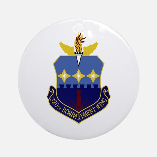 320th Bomb Wing Ornament (Round)