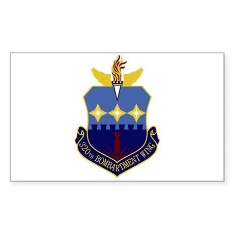 320th Bomb Wing Sticker (Rectangle)