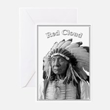 Red Cloud 02 Greeting Cards (Pk of 10)