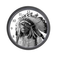 Red Cloud 02 Wall Clock