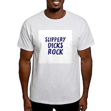 Slippery Dicks Rock Ash Grey T-Shirt