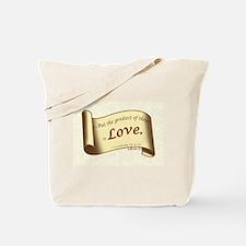 Love Scroll Tote Bag