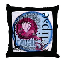 Eclipse Blue Moon by Twibaby.com Throw Pillow