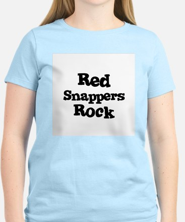 Red Snappers Rock Women's Pink T-Shirt