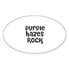 Purple Hazes Rock Oval Decal