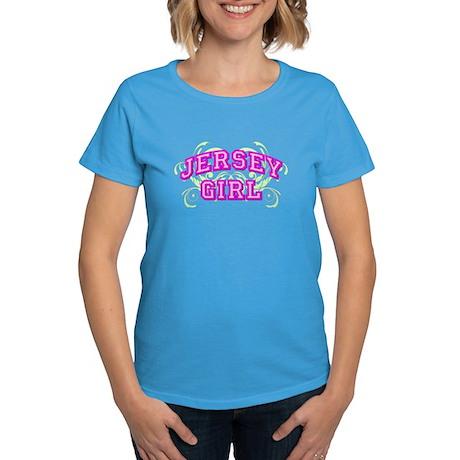 Jersey Girl Flourish Women's Dark T-Shirt