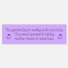 Greatest Joy - Bumper Bumper Sticker