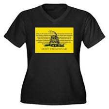 DONT TREAD ON ME for Independ Women's Plus Size V-