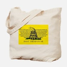 DONT TREAD ON ME for Independ Tote Bag