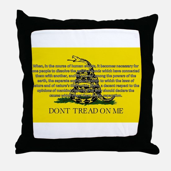 DONT TREAD ON ME for Independ Throw Pillow