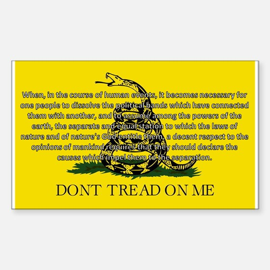 DONT TREAD ON ME for Independ Sticker (Rectangle)