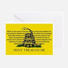 DONT TREAD ON ME for Independ Greeting Card