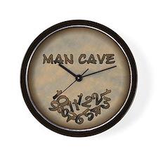 Fallen Numbers Man Cave Wall Clock