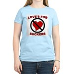 Love Is For Suckers Women's Pink T-Shirt