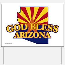 God Bless Arizona Yard Sign