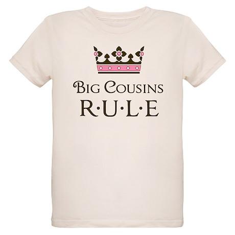 Big Cousins Rule Organic Kids T-Shirt