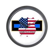Policevets Logo 06 Wall Clock