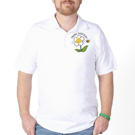 Think Positive Bee Golf Shirt