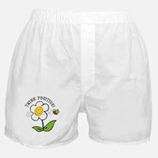 Think Positive Bee Boxer Shorts