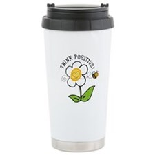 Think Positive Bee Travel Mug