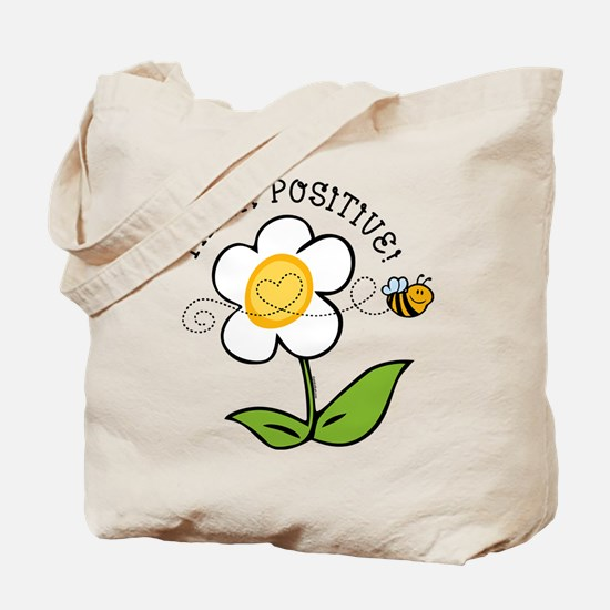 Think Positive Bee Tote Bag