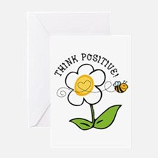 Think Positive Bee Greeting Card