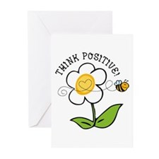 Think Positive Bee Greeting Cards (Pk of 20)