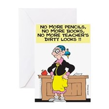No More Pencils Greeting Card