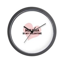 Melissa Is My Valentine Wall Clock