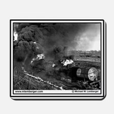 Rock Island RR - Train Wreck - Fire -Mousepad