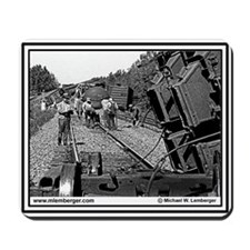 Burlington Northern RR - Train WreckMousepad