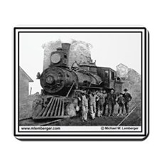 Old Steam Engine #44 & crew -Mousepad