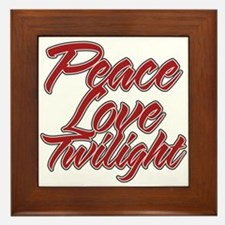 Peace Love Twilight Framed Tile